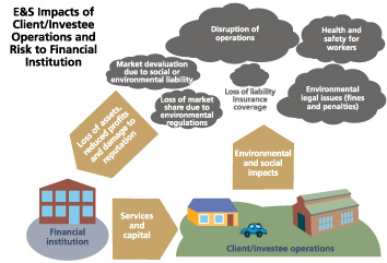 E&S Impacts of Client/Investee Operations and Risk to Financial Institution